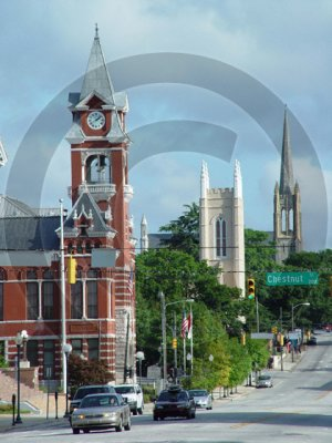 The Three Steeples - 3071 - 11x17 Framed Photo