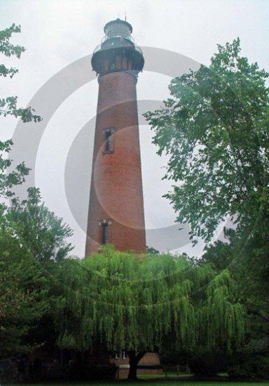 Currituck Lighthouse - 10017 - 11x17 Framed Photo