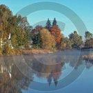 Indian Summer Morning - Unadilla River - 11014 - 8x10 Framed Photo