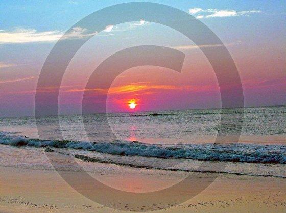 Sunrise Wrightsville Beach - Johnnie Mercer's Pier - 1002 - 11x17 Framed Photo