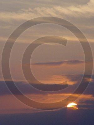 Sunset Sky - Masonboro Inlet - 2027 - 8x10 Framed Photo