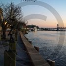 Cold December River - Historic Downtown Wilmington - 2034 - 11x17 Photo