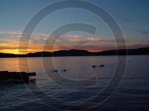Adirondack Sunset - Adirondack Mountains - 2037 - 11x17 Framed Photo