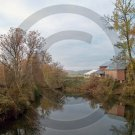 Farm on the Unadilla River - 7050 - 11x17 Framed Photo