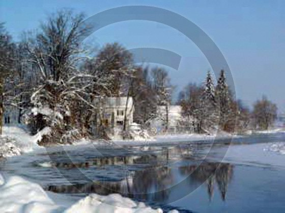 Winter on Unadilla River - 7099 - 8x10 Framed Photo