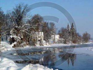 Winter on Unadilla River - 7099 - 8x10 Framed Photo
