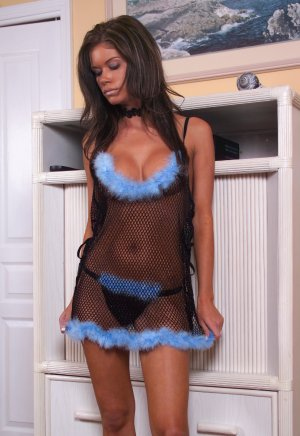 Fishnet Baby-Doll with Matching Thong