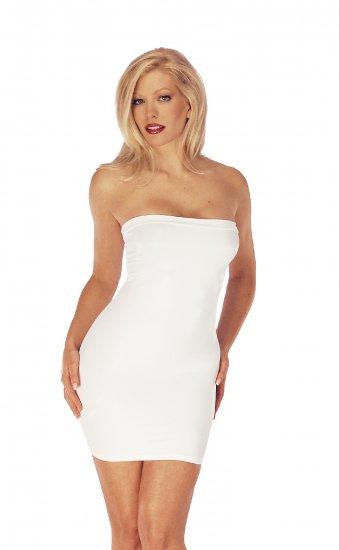 Tube Top Dress. Wet Look Lycra.