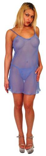 Semi-Sheer Chiffon Chemise with matching Panty