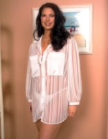 Sheer Button-Front Sleep-Shirt with Man-tailored collar and matching Panty