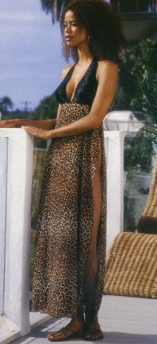 Animal Print Long Gown