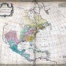 1754 Palarait Map of North America--Reproduction