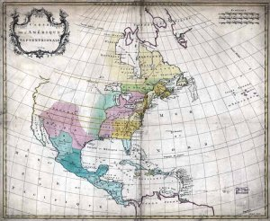 1754 Palarait Map of North America--Reproduction