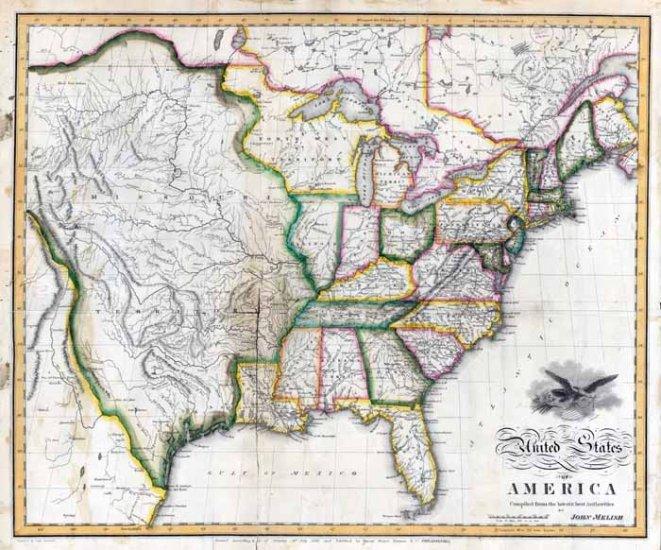 1818 Melish United States of America�Reproduction