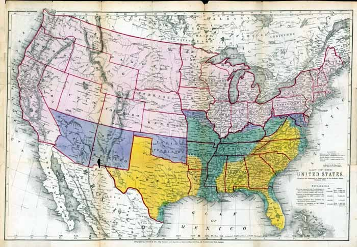1864 Austin Civil War USA Map�Reproduction
