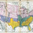 1864 Austin Civil War USA Map—Reproduction