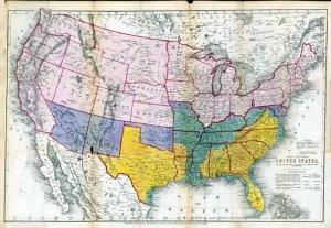1864 Austin Civil War USA Map�Reproduction