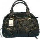 Metro 7 - Toggle Satchel Handbags with Grommet Accents and Zippered Pockets