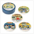 French Cafe Coaster Set