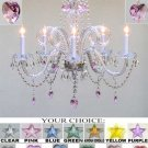 MURANO VENETIAN STYLE ALL-CRYSTAL CHANDELIER