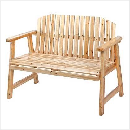 Wooden Cottage Garden Bench