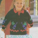 Knitting pattern for girls cardigan with flamenco theme