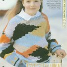 Knitting pattern for childs bright patchwork sweater