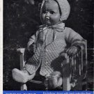 Vintage knitting pattern for 16in doll/reborn outfit. Bairnswear 1310