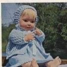 Vintage knitting pattern for dolls/reborns. Bestway 4004