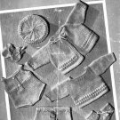 Vintage knitting pattern for baby boy dolls clothes. Bestway 1969 PDF