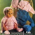 Vintage knitting pattern for dolls/reborns. Bellmans 1289. PDF