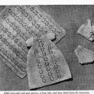 Vintage knitting pattern for Miniature baby doll 6.5in. Womans weekly. PDF