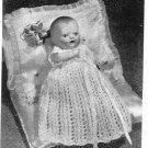 Vintage knitting pattern for tiny baby doll 6.5in. Womans Weekly. PDF