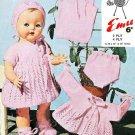 Vintage knitting pattern for baby dolls/reborns. Emu 8014