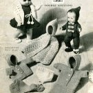 Vintage knitting pattern for dolls outfits Golly 22 Dolls sizes 10 - 12 ins