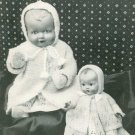 Vintage knitting pattern to knit dolls or reborns layette. Lee Target 1328