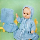 Vintage knitting pattern for dolls/reborns. Lee Target 6408