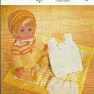 Vintage knitting pattern for dolls layette 12 - 14in dolls Argyll 773