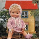 Vintage doll knitting pattern for 15inch dolls Robin 2374 PDF