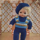 Vintage doll knitting pattern for 15inch dolls Robin 2373 PDF