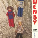 Vintage knitting pattern for fashion dolls Sindy Barbie Wendy 1756 PDF