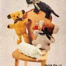 Vintage knitting pattern to make adorable toys Bellmans 1043