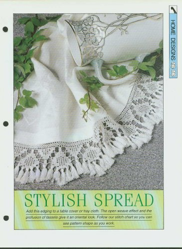 Crochet pattern for pretty edging for a table cover or tray cloth