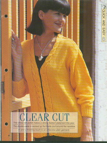 Knitting pattern for ladies Zip up front jacket with double cable up fronts