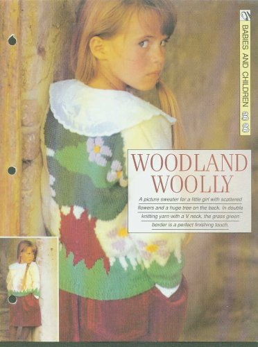 Knitting pattern for girls jumper with woodland picture