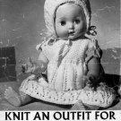 "Vintage knitting pattern for dolls outfits 14"" 36cm doll Greenock B592 PDF"