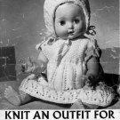 "Vintage knitting pattern for dolls outfits 14"" 36cm doll Greenock B592 PDF"