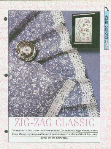 Crochet pattern for versatile crochet border based on classical Greek lines