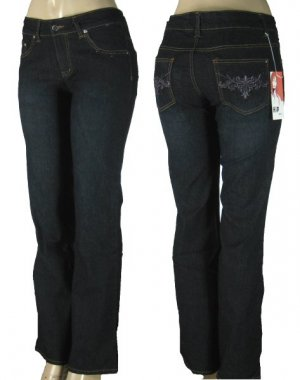 Plus Size Jeans, Pocket Embroidery  16