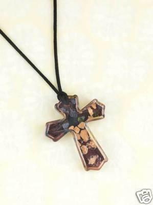 Art-Glass Cross Necklace